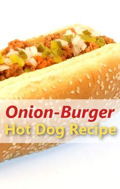 The Chew: Ming Tsai Onion-Burger Hot Dogs Recipe & Sweet Chile Relish The Chew Recipes, Hot Dog Recipes, Bacon Recipes, Hot Dogs, Hot Dog Buns, Burger Dogs, Burgers, The Chew Tv Show, Hot Dog Toppings