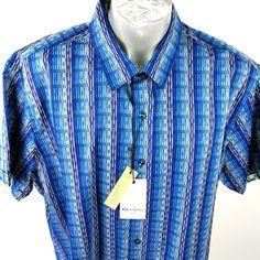 Robert Graham Mens Short Sleeve Sz 3XL Cotton Print Blue Lightsaber New #RobertGraham #ButtonFront Blue Lightsaber, Robert Graham, Online Price, Vogue, Shirt Dress, Best Deals, Sleeves, Cotton, Mens Tops