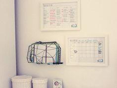 HaushaltsmuffelHaushaltsplan mit Vorlage zum Download – Haushaltsmuffel Happy Planner, Getting Organized, Home Organization, Declutter, Magazine Rack, Household, How To Plan, Storage, Interior