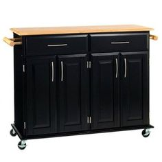Kitchen Island Cart. Would like a lip at least on one side to douple as a table