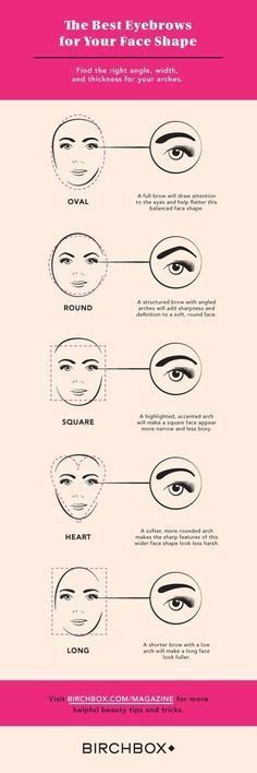 Determine the best eyebrow shape for your face.