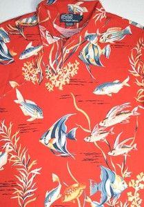 $90 Polo Ralph Lauren Tropical Mesh Shirt XL | eBay