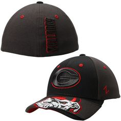 3458d832fb7 Mens Georgia Bulldogs Zephyr Black Dark Ice Flex Hat