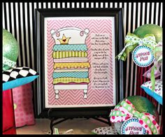 Cute printable for Princess and the Pea party