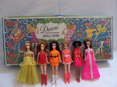 Dawn Dolls... half the size of Barbie, same idea. AWWW...I wish I still had mine for my granddaughters...