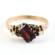 Antique Rose Gold Victorian Garnet Seed Pearl by laurenrosedesign, $298.00 This ring is beautiful and elegant!