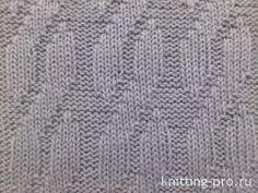 "Узор ""Ложная косичка"" http://knitting-pro.ru/from-right-left-stitch/false-kosa.html"
