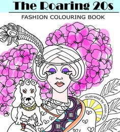 Detail - 1920s colouring book cover by Alison Day  Newsletter - for more info and creativity: http://alisonday.us8.list-manage.com/subscribe?u=f0ee923eb109c974f6e7d72c2&id=d783011ad5