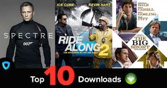 Top 10 most downloaded movies 1st feb