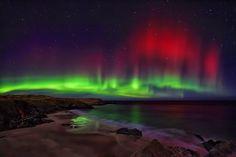 Het Noorderlicht in Schotland - foto via spaceweather.com