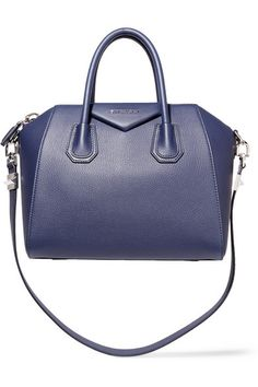 Givenchy | Small Antigona bag in navy textured-leather | NET-A-PORTER.COM