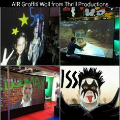 Hot Party Entertainment Trend - AIR Graffiti - Digital Graffiti Wall by Thrill Productions - mazelmoments.com