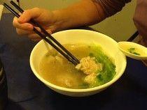 Le e Lu on the eat: - Some food in HK soup with noodles and dumpling