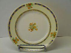 """Vintage WH Grindley Ivory Porcelain 6 1/4"""" plate/Saucer Floral 714550 England #vintage #whgrindley #wh #grindley #ivory #porcelain #floral #england"""