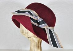 lady mary cloche in burgundy
