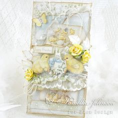 A beautiful Easter card, the Easter Greetings paper collection
