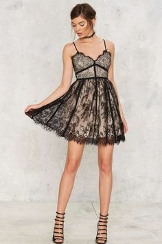 Braden Lace Mini Dress - Nasty Gal Collection | Going Out | Fit & Flare