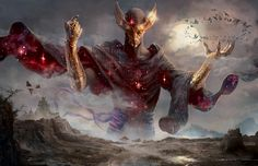 MtG Art: Phenax, God of Deception from Born of the Gods Set by Ryan Barger - Art of Magic: the Gathering Fantasy Artwork, Magic The Gathering, Fantasy Creatures, Mythical Creatures, Mtg Art, Ange Demon, Arte Obscura, Fantasy Kunst, Angels And Demons
