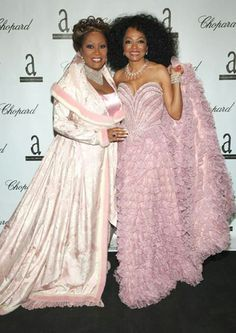 Patti LaBelle and Diana Ross