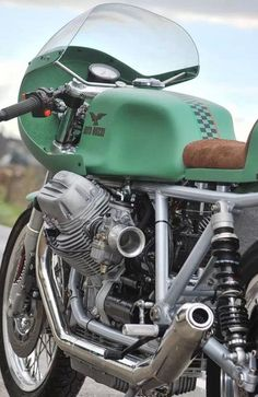 Love this color | Vintage Moto Guzzi