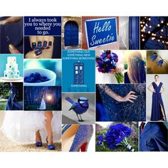 """Wedding in Tardis Blue"" by badwolfinc on Polyvore --> Not gonna lie, I kind of love this. :)"
