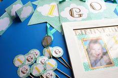 Kit para el primer cumpleaños de Gonzalo