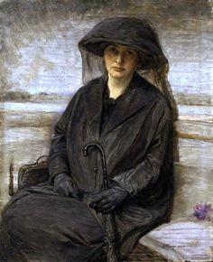 Woman in Mourning - Bertha Wegmann  (Swiss-Danish, 1847-1926)