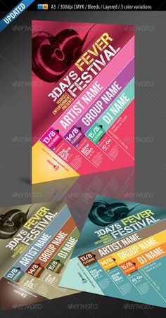Buy Event/Festival Poster by aRtlessX on GraphicRiver.eps, poster, layers organized in groups per event . Tool Design, Design Process, Ui Design, Flyer Design, Layout Design, Print Design, Graphic Design, Design Ideas, Design Girl