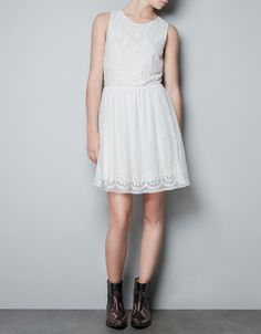EMBROIDERED DRESS - Dresses - TRF - ZARA Ireland