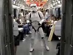 One of the many things I love about Japanese people. If they see a Stormtrooper dancing in the street they join in.
