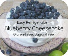 Blueberry Cheesecake (sugar-free and gluten-free)