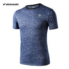 TOp T-shirt Fast Dry men large t shirts 2017 Summer compression muscle t shirt bodybuilding Tee breathable active shirt for male #Affiliate