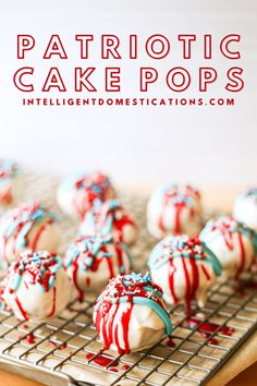Easy step by step tutorial with pictures for how to make Patriotic, Red White and Blue Cake Balls. #redwhiteandbluedessert #cakepops Pork Recipes, Crockpot Recipes, Holiday Recipes, Dinner Recipes, One Dish Dinners, Blue Cakes, Recipe Boards, Cakepops, Casserole Recipes