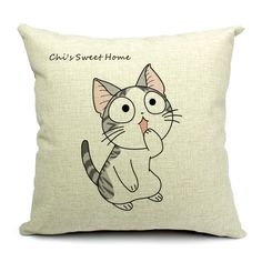45x45cm Chic Facial Signs Cat Printing Fashion Cotton and Linen Pillow Case  http://www.eozy.com/45x45cm-chic-facial-signs-cat-printing-fashion-cotton-and-linen-pillow-ehe33-7.html