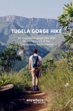 The Tugela Gorge hike in KwaZulu-Natal, South Africa, provides magnificent views of the Drakensberg Amphitheatre and the Tugela Falls – the highest falls in the world. High Falls, Hiking Guide, Picnic Spot, Kwazulu Natal, Round Trip, Africa Travel, Lake District, South Africa, Gay
