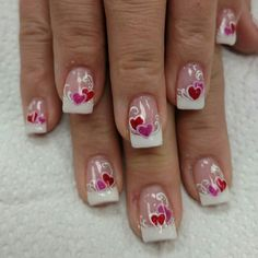 All of these nail designs are as simple as they are lovely. For those who are frequently looking for good ideas and unique designs, nail art designs are a great way to show off your individuality and to be original. French Nails, French Pedicure, Pedicure Nail Art, Pedicure Ideas, Trendy Nail Art, New Nail Art, Cool Nail Art, Nail Art Designs, Fingernail Designs