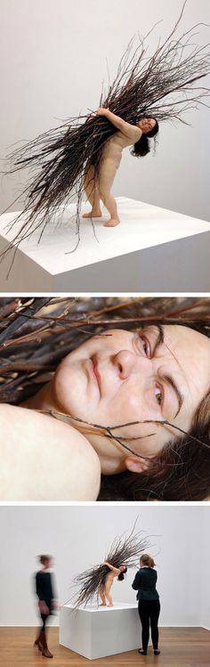 Woman with Sticks by Ron Mueck http://sweet-station.com/blog/2012/10/woman-with-sticks-by-ron-mueck/