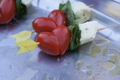 valentines caprese on a stick