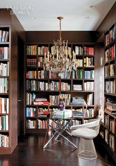 Luxurious room with books