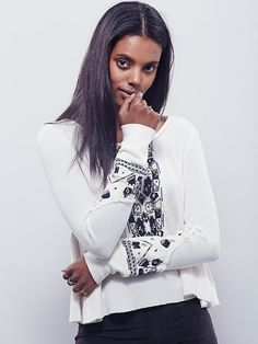 Free People FP X Marion Embroidered Thermal, $98.00 Size: S Color: Rust or Stone <3