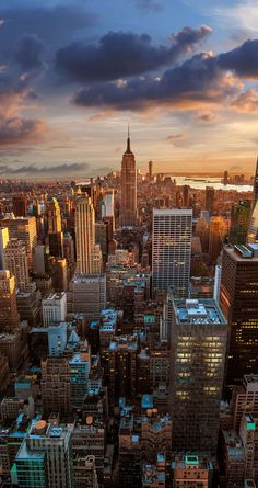 Vintage New York City Aerial View iPhone 5 Wallpaper / iPod