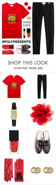 """""""Win It! #PolyPresents: Gucci Wish List"""" by lgb321 ❤ liked on Polyvore featuring Gucci, Frame, WishList, contestentry, polyvoreeditorial and polyPresents"""