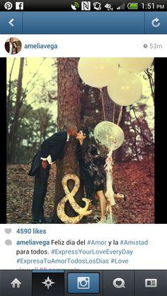 Love the glitter filled balloons!