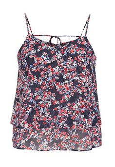4th of July Weekend Outfit Ideas: tiered tank in floral print #maurices