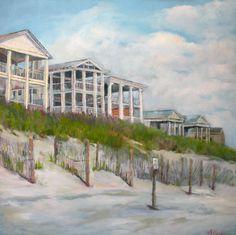 """""""Seaside Beach Houses"""" 30x30 Sold @ Quincy Ave. Art & Things-Seaside, Fl"""