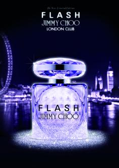 Flash Londo Club by Jimmy Choo - Floral moderna e frutada. Começa com espumante com notas de bergamota e lichia, com coração de tuberosa em base de madeira clara e almíscar. A fragrância se desenvolve como uma festa!