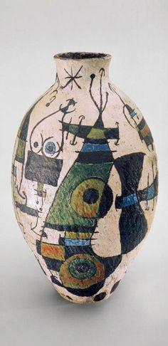 Joan Miro; Glazed Ceramic Vase, 1940s.