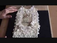 Shabby lace wall hanging  ( Tresors de Luxe Design Team Project 12)