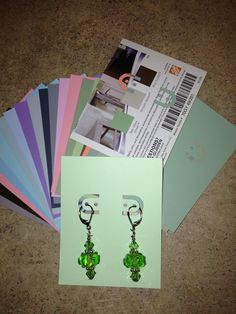 Earring cards from paint chips from the local big box store. Make them to coordinate with ANY color. Big Box Store, Earring Cards, Paint Chips, How To Make, Painting, Color, Colour, Painting Art, Paintings