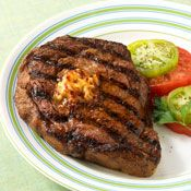 Rib Eye Steaks with Chipotle Butter